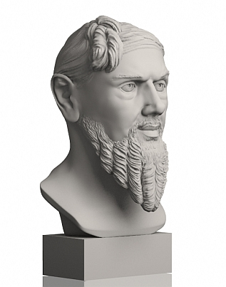 The bust from EGO3D - the Prince of Muschau