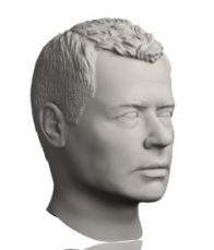 Here is the sculpted head