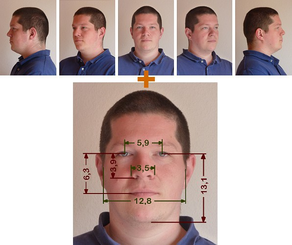 We just need 5 photos ans measures to sculpt your head