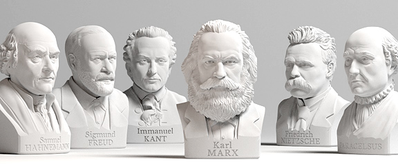 Selection of busts from celebrities from EGO3D