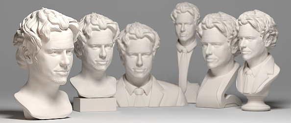 The different types of busts from EGO3D